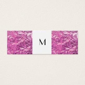 Narror Calling Card Monogram and Pink Metallic