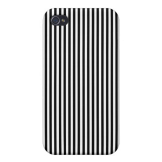 Narrow Black and White Striped IPhone Case Case For The iPhone 4