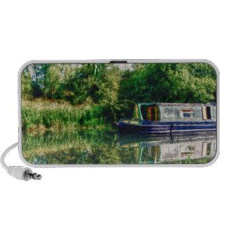 Narrow boat on the River Nene Doodle speaker