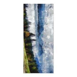Narrow path on a hill 10 cm x 24 cm invitation card