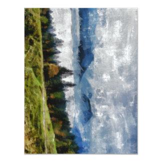Narrow path on a hill 11 cm x 14 cm invitation card