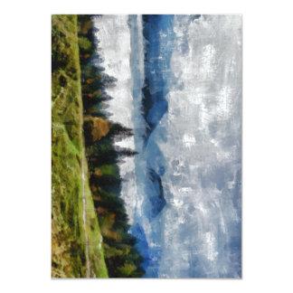 Narrow path on a hill 11 cm x 16 cm invitation card