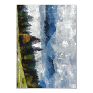 Narrow path on a hill 13 cm x 18 cm invitation card