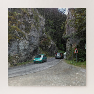 Narrow Road Of The Canyon Jigsaw Puzzle