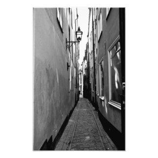 Narrow street in Stockholm Photo