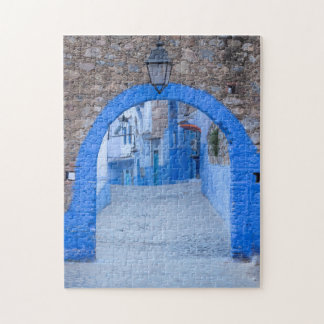Narrow Street Of Chefchaouen Jigsaw Puzzle