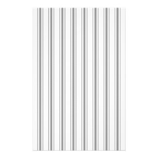 Narrow Stripe Charcoal Gray White Mattress Ticking Flyer