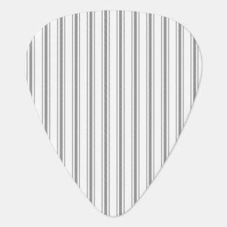 Narrow Stripe Charcoal Gray White Mattress Ticking Plectrum