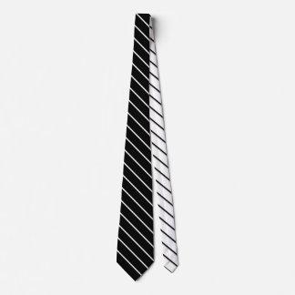 Narrow Stripes - black white + your ideas Tie