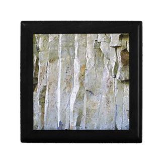 Narrow white rock column gift box