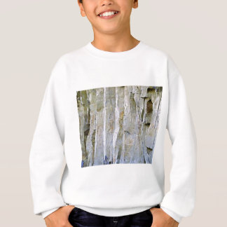 Narrow white rock column sweatshirt