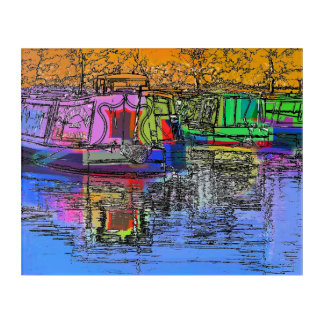 NARROWBOATS ACRYLIC WALL ART