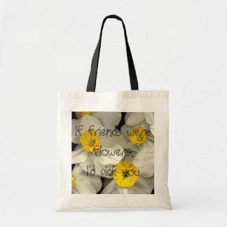 Narsissis Flower Budget Tote Bag