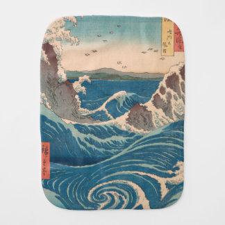 naruto whirlpool by Japanese artist Hiroshige Burp Cloth
