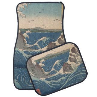 naruto whirlpool by Japanese artist Hiroshige Car Mat