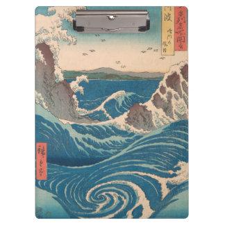naruto whirlpool by Japanese artist Hiroshige Clipboard