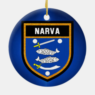 Narva Flag Ceramic Ornament