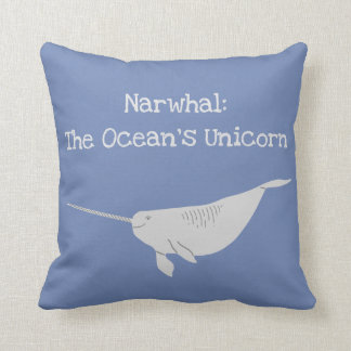 Narwahl: The Ocean's Unicorn Cushion
