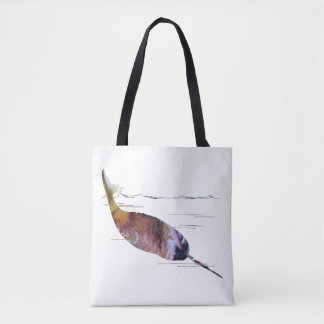 Narwhal Art Tote Bag