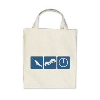 Narwhal - Bacon - Midnight Canvas Bag