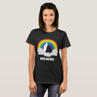 Narwhal Believe! Rainbow Shirt