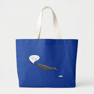 Narwhal diss large tote bag