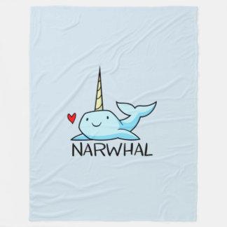 Narwhal Fleece Blanket