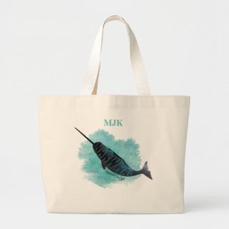 Narwhal Heart Large Tote Bag