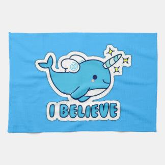 Narwhal I Believe Tea Towel