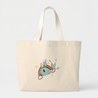narwhal large tote bag