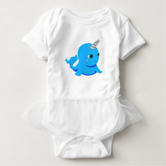Narwhal snowball fight! baby bodysuit
