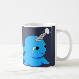 Narwhal snowball fight! coffee mug