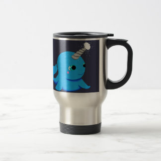 Narwhal snowball fight! travel mug