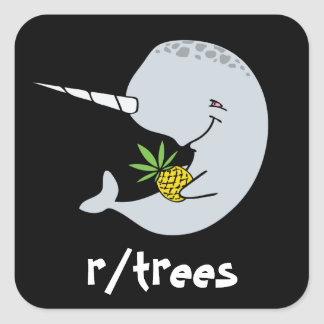 Narwhal Trees Sticker