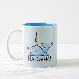Narwhal Two-Tone Coffee Mug