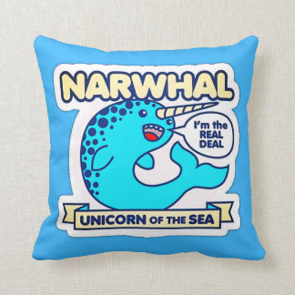 Narwhal Unicorn Of The Sea Cushion