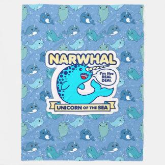 Narwhal Unicorn Of The Sea Fleece Blanket