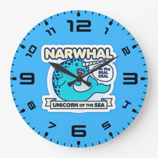 Narwhal Unicorn Of The Sea Wall Clock