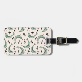 Narwhal - Whale Champagne Blue / Andrea Lauren Luggage Tag