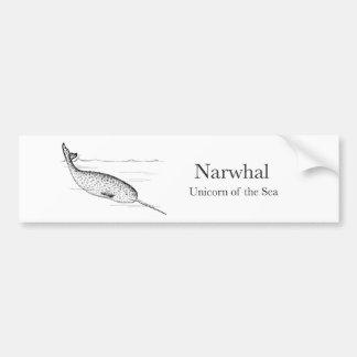 Narwhal Whale Unicorn of the Sea Bumper Sticker