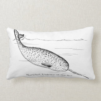 Narwhal Whale Unicorn of the Sea Lumbar Cushion