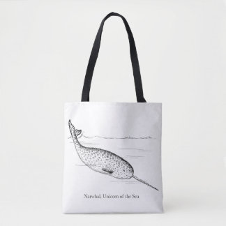 Narwhal Whale Unicorn of the Sea Tote Bag
