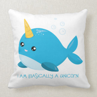 Narwhals: Unicorns Of The Sea Throw Pillow