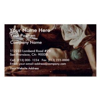 Narzis,  By Michelangelo Merisi Da Caravaggio Business Card Templates
