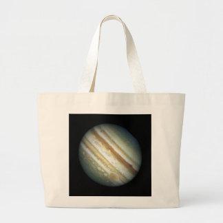 NASA - A Jupiter Storm Jumbo Tote Bag