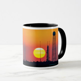 NASA Antares Rocket Sunrise Launch Mug