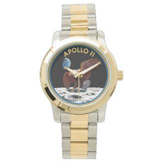 NASA Apollo 11 Logo gold tone watch