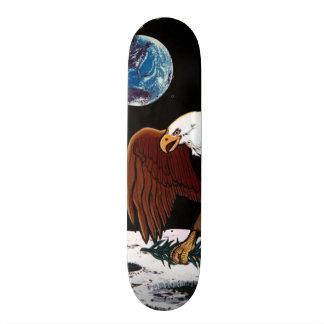 NASA Apollo 11 Moon Landing Lunar Patch Insignia 21.3 Cm Mini Skateboard Deck