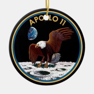 NASA Apollo 11 Moon Landing Lunar Patch Insignia Ceramic Ornament