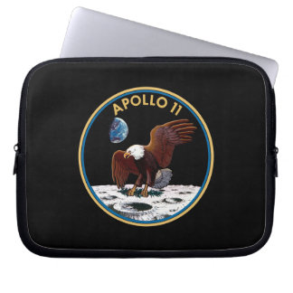 NASA Apollo 11 Moon Landing Lunar Patch Insignia Laptop Sleeve